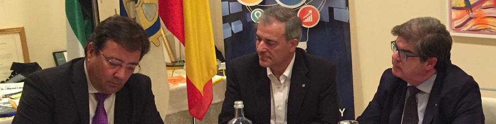Guillermo Fernández Vara, Presidente de la Junta de Extremadura, en ForoVisión Rotary