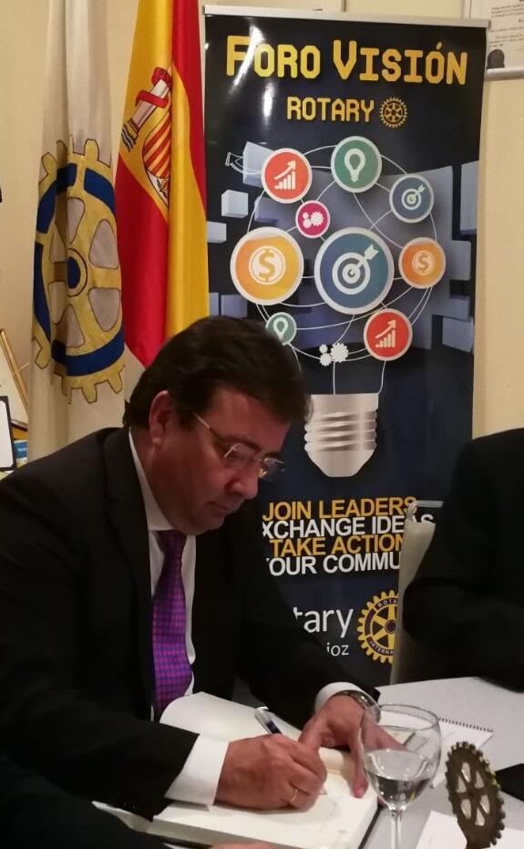 Foro Visión Rotary Guillermo Fernandez Vara y Alberto Astorga