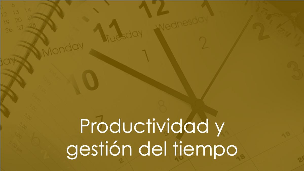 productividad gestión del tiempo