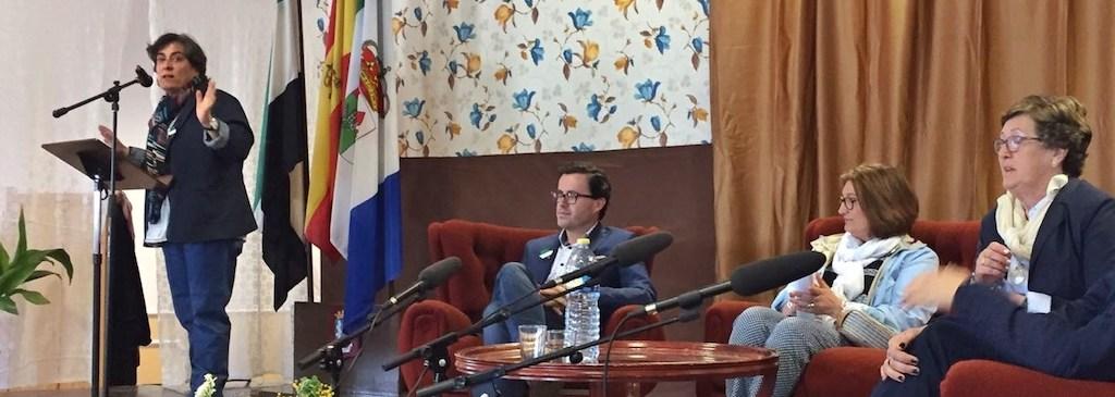 Nandi Ortiz, Alcaldesa Maguilla y Miguel Angel Gallardo, Presidente Diputacion Badajoz