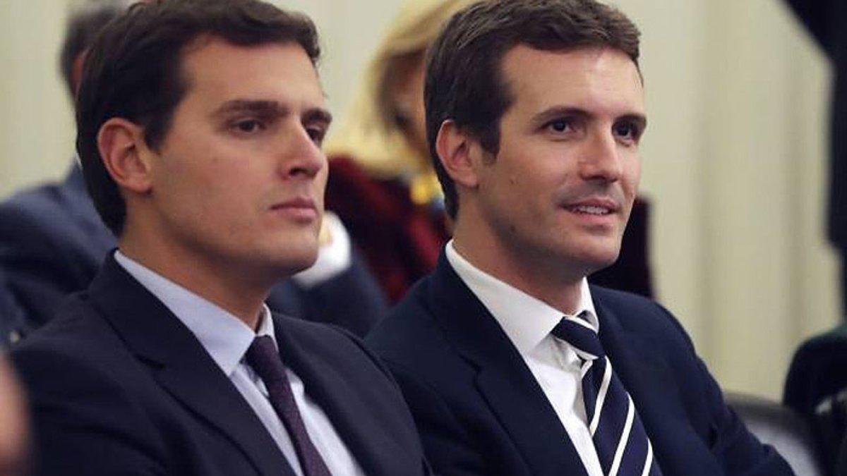 Pugna por el voto útil entre Albert Rivera y Pablo Casado