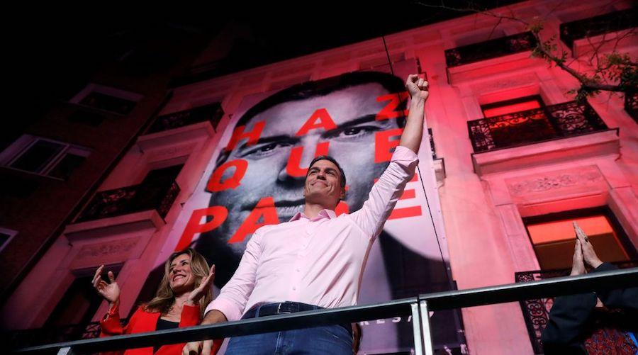 Pedro Sánchez valora los resultados del 28A