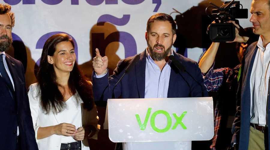 Abascal valora los resultados del 28A para Vox