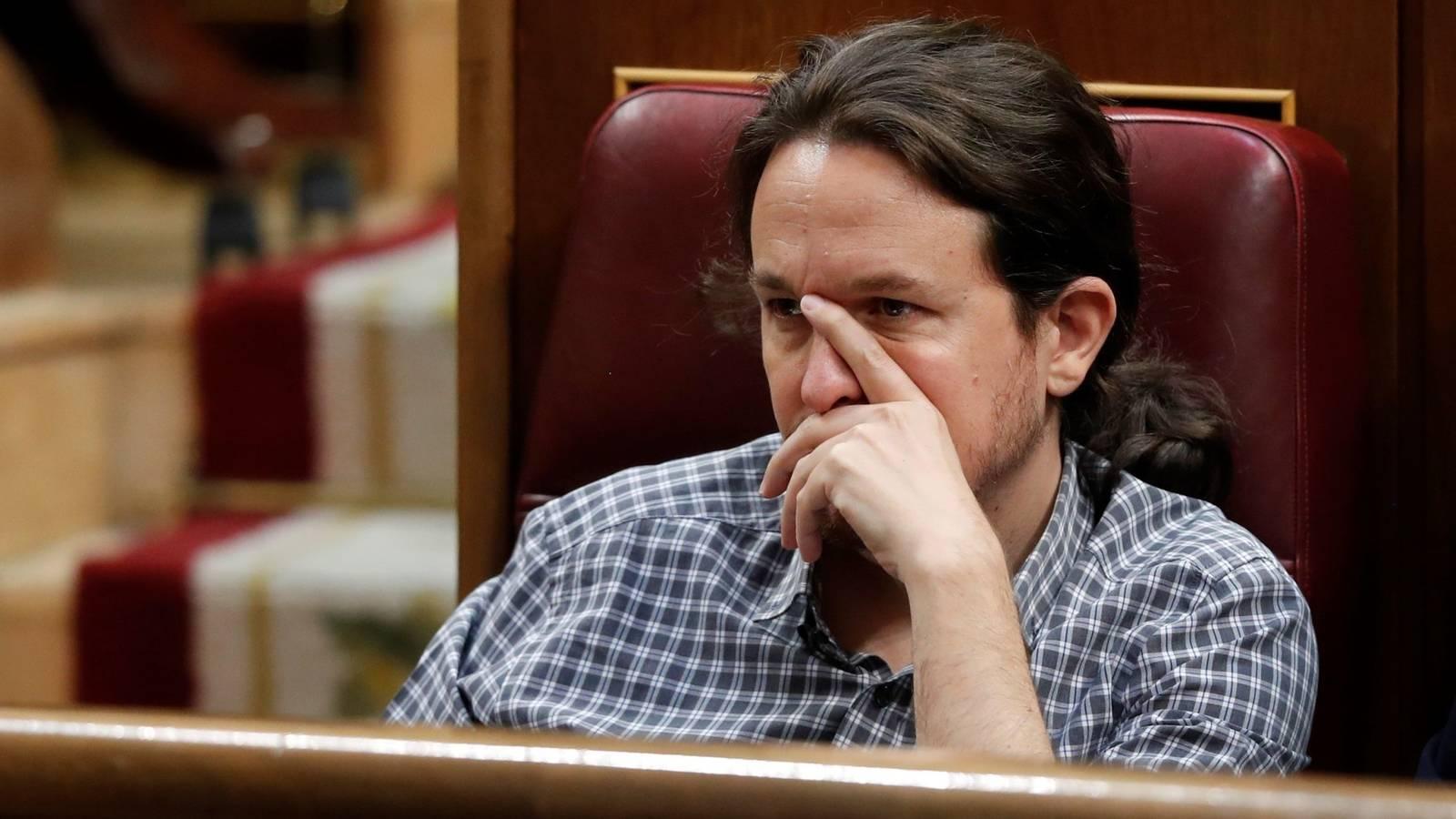 Pablo Iglesias en la sesion de investidura fallida