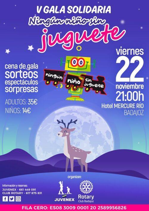 Gala solidaria Ningún Niño Sin Juguete Badajoz 2019