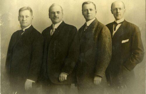 Los cuatro fundadores de Rotary
