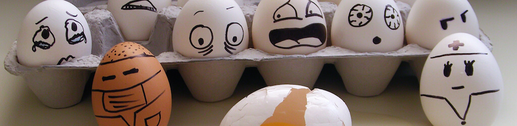 El horror de un huevo caído - Carmen Heras