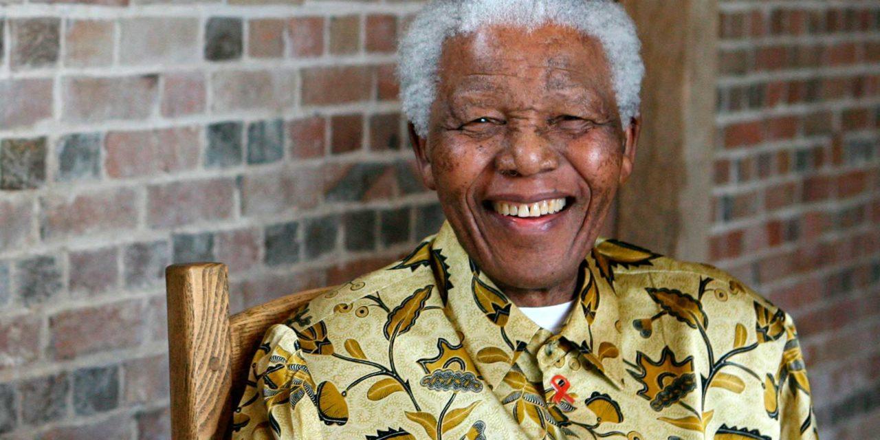 Nelson Mandela; presidente de Sudáfrica;