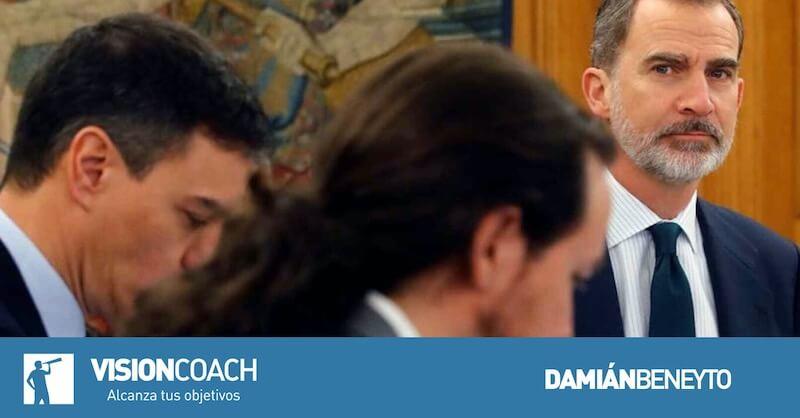 El gobierno del PSOE y PODEMOS y Felipe VI; Acoso a la monartía; Damián Beneyto;