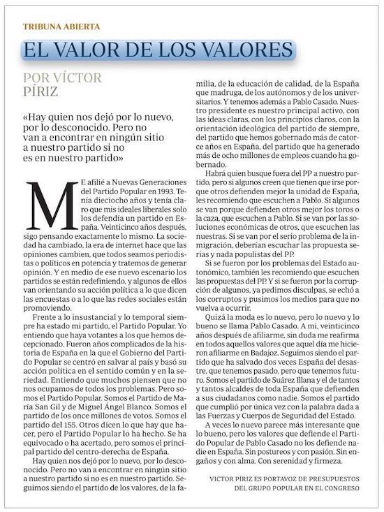 El valor de los valores, por Víctor Píriz - Visioncoach