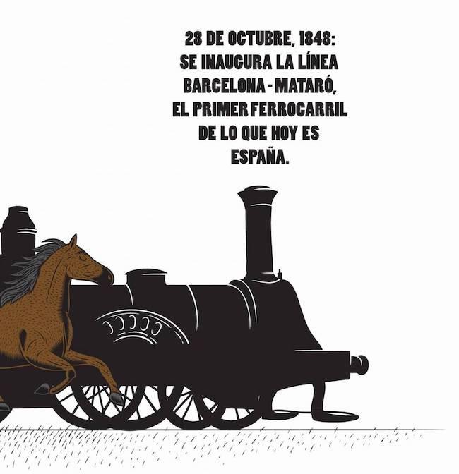 La primera línea de ferrocarril de España fue Barcelona-Mataró. - Damián Beneyto