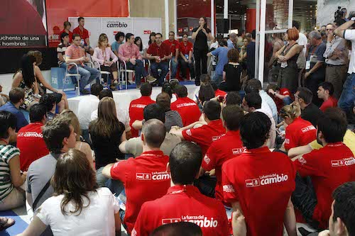 Afiliados del PSOE en Campaña