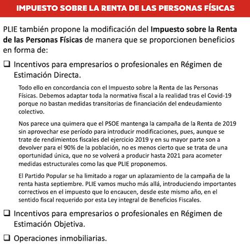 Proyecto Liberal Español; PLIE; Fernández Ochoa;