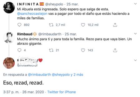 Rezad, rezad malditos; el tuit miserable de Rita Ortega, PSOE de Badajoz