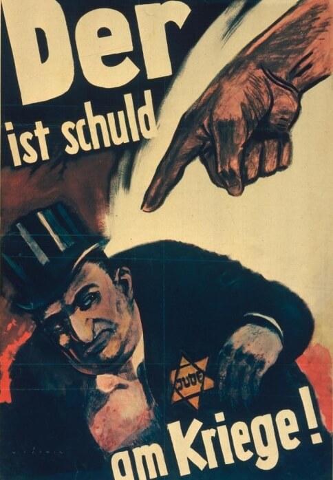 Culpar a los judios fue un método para desviar los problemas y buscar culpables; Propaganda nazi,