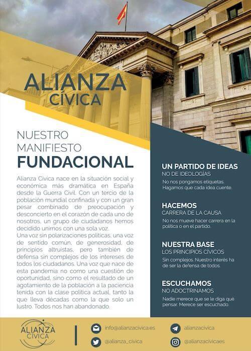Manifiesto fundacional de Alianza Cívica