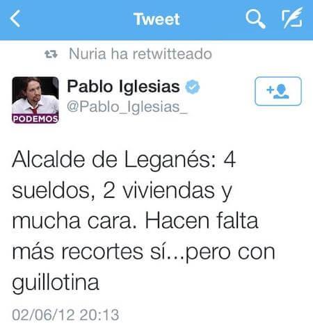 Pablo Iglesias amenazando con la guillotina, Damián Beneyto