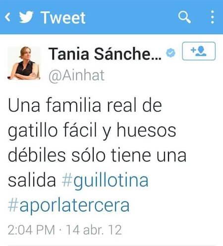 Tania Sánchez y sus amenazas al Rey