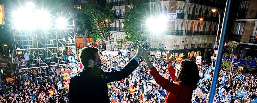 Isabel Diaz Ayuso y el Partido Popular ganan las elecciones de Madrid 2021