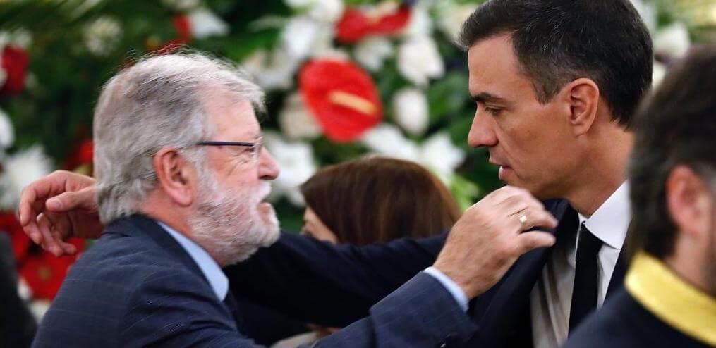 Rodríguez Ibarra y Pedro Sánchez