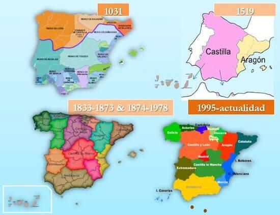 El origen de las regiones de España
