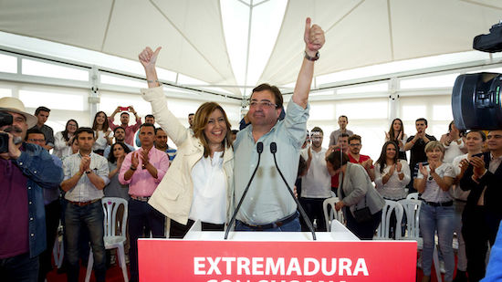 Guillermo Fernández Vara y Susana Díaz